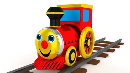 Bunte Spielzeug Lokomotive