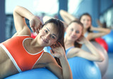 Fotoroleta Group of people in a Pilates class at the gym