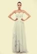 Full length bride in white wedding gown