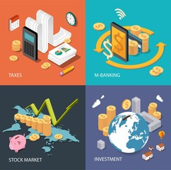 Flat isometric concepts for finance and finance