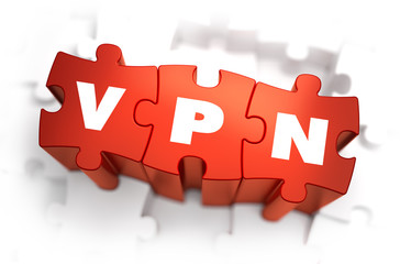 VPN - White Word on Red Puzzles.