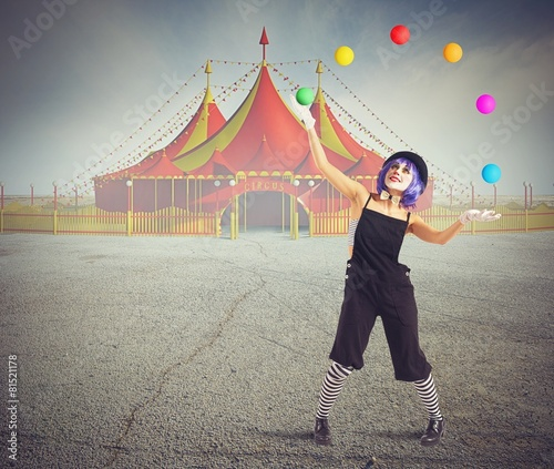 Leinwanddruck Bild Jester clown