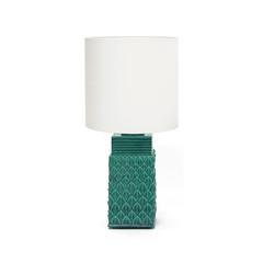 Ceramic  teal colored Lamp