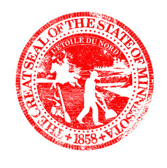 Minnesota Seal Rubber Stamp