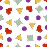 Geometry objects (seamless pattern)