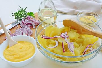 Potato salad with mayonnaise, homemade