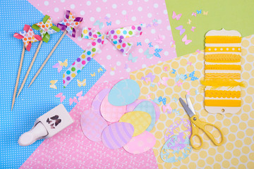 Colorful accessories for craft
