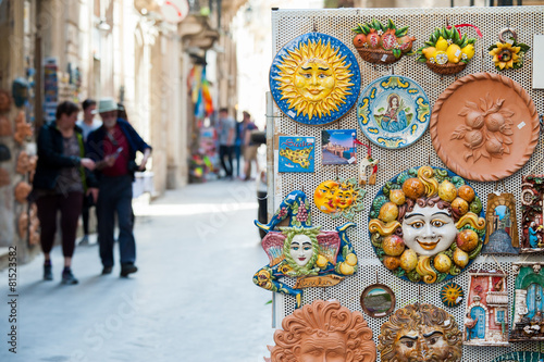 canvas print picture Souvenirs from Sicily