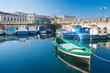 Leinwanddruck Bild - Fishing boats in Syracuse