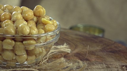 Preserved Chick Peas (not loopable 4K UHD footage)