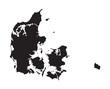 black map of Denmark - 81525575
