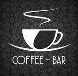 Logo Minimalist Coffee Bar Black and White - 81526329