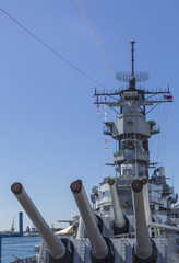 Main Guns of the USS Missouri Battleship