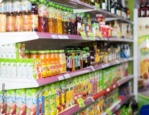 Leinwandbild Motiv Beverage section