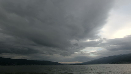 Cloudscape over the lake