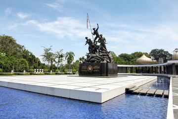 The Tugu Negara National Monument in Kuala Lumpur