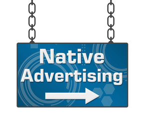 Native Advertising Signboard