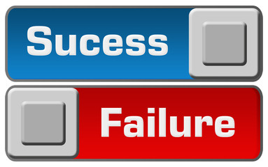 Success Failure Blue Red Switches