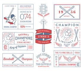 Baseball badges and icons