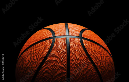 Basketball against black - 81530744