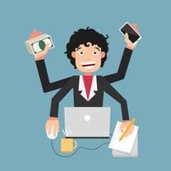 Busy life of businessman