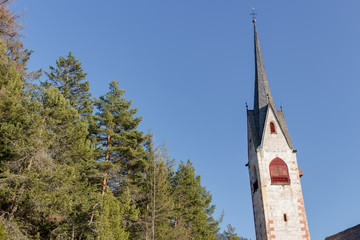 Steeple of Church of St. Jacob near Ortisei