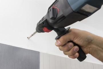 Drilling hole in bathroom wall 2