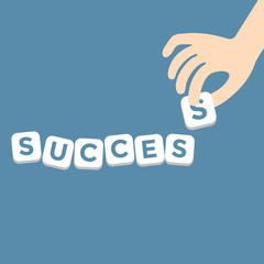 Success concept with the final piece alphabet
