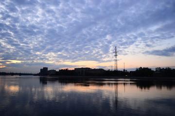View of Neva River in St.Petersburg.