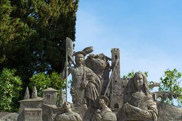 Rappresentazione di Arezzo in bronzo