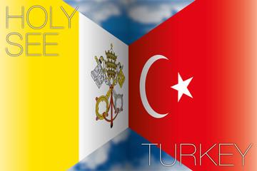holy see vs turkey flags