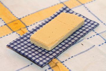 wafer on a napkin