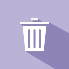 Icono basura morado sombra