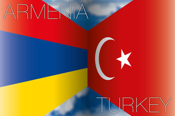 armenia vs turkey flags