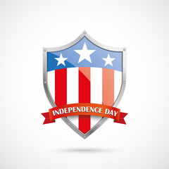 Independence Day Protectio Shield Flag
