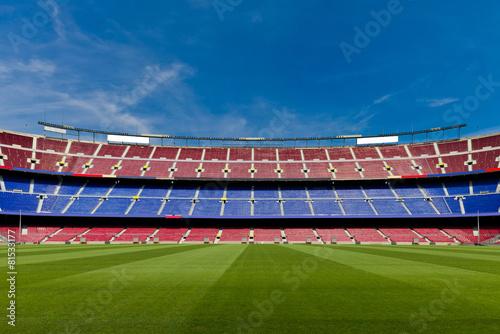Empty Football Stadium - 81533177