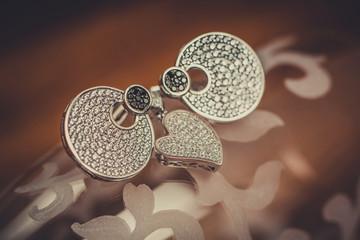 Beautiful jewelry. Close up.