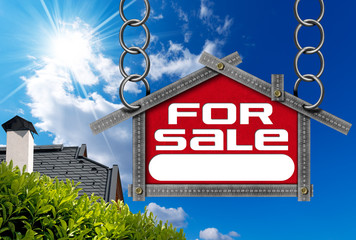 House For Sale Sign - Metallic Meter