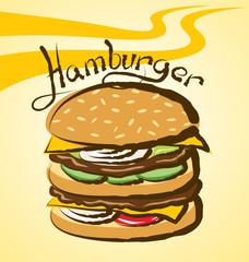 Vector Big Hamburger