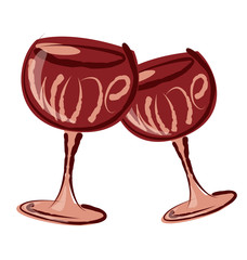 Vector Glass of Wine