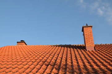 Tile and chimney