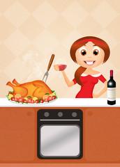 roast turkey for Thanksgiving day