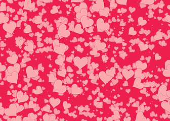 red hearts backgrounds of Love symbol