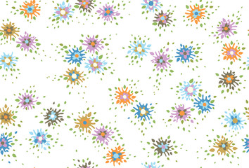 .Vector  abstract,  floral, seamless pattern.