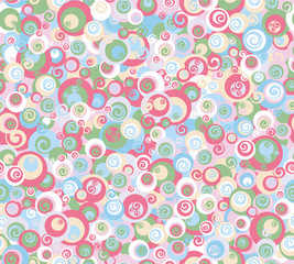 Vector abstract colorful seamless pattern.