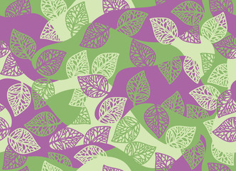 Vector seamless leaves pattern.