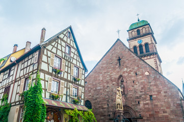 typical buildings in alsace