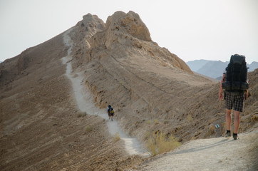 Hiking in Israel's Negev Desert