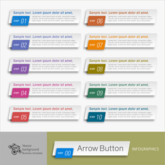 Infographics Vector Arrow Buttons