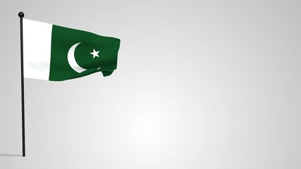 Pakistani flag waving in the wind